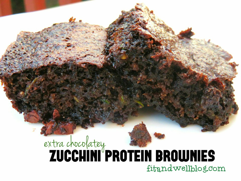 Zucchini Protein Brownies