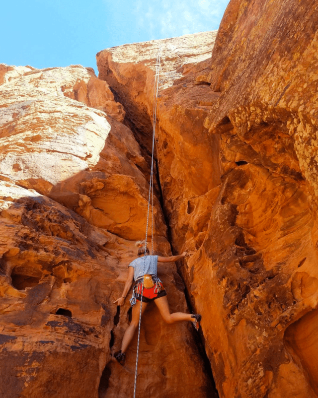 rock climbing in rock canyon