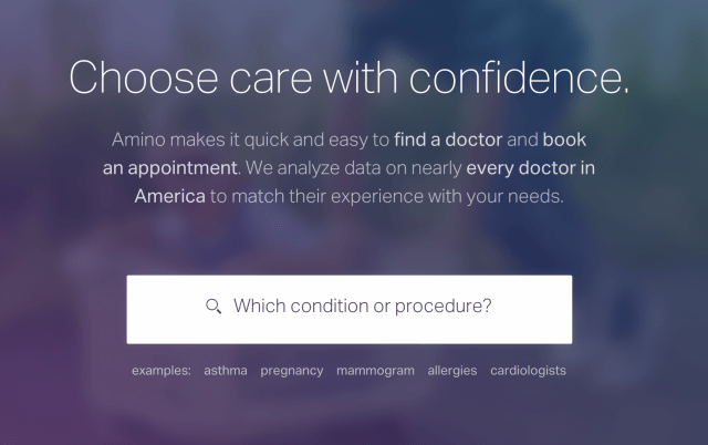 Amino free healthcare website