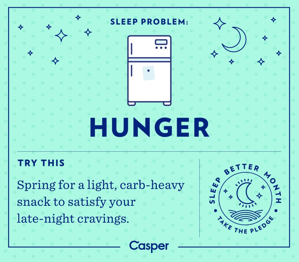 eat carbs for sleep