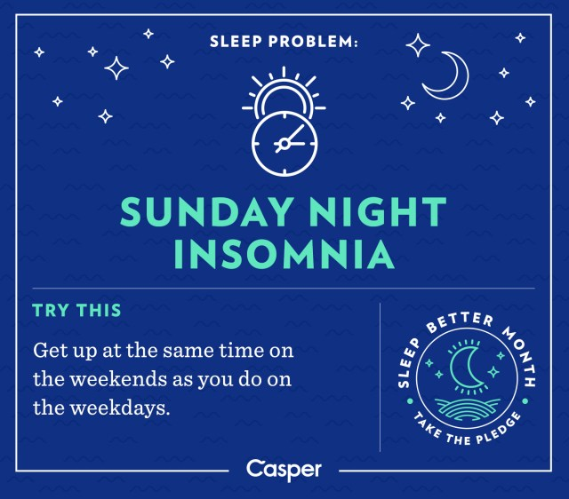 weekend sleep tips