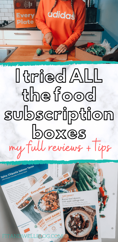 I tried ALL the food subscription boxes, here's how I ranked them! I looked for healthy meal options and quality of ingredients.   Fitandwellblog.com