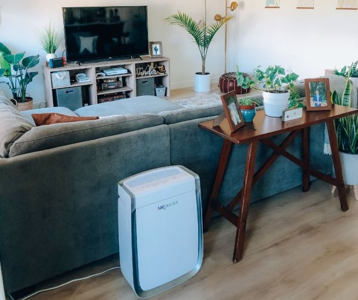 air purifier in my living room