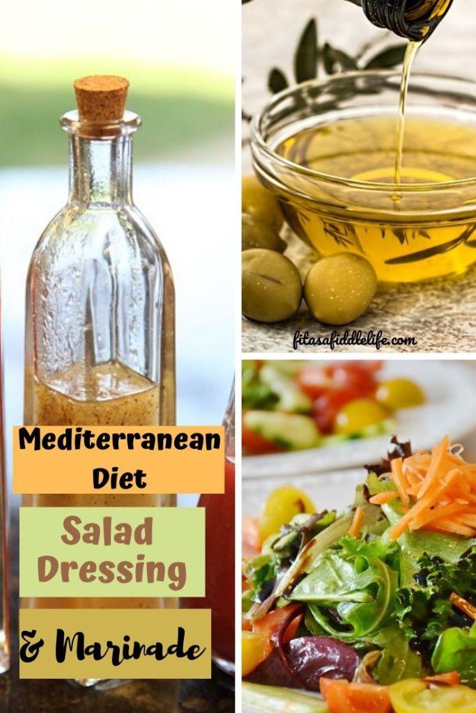 Simple olive oil salad dressing.