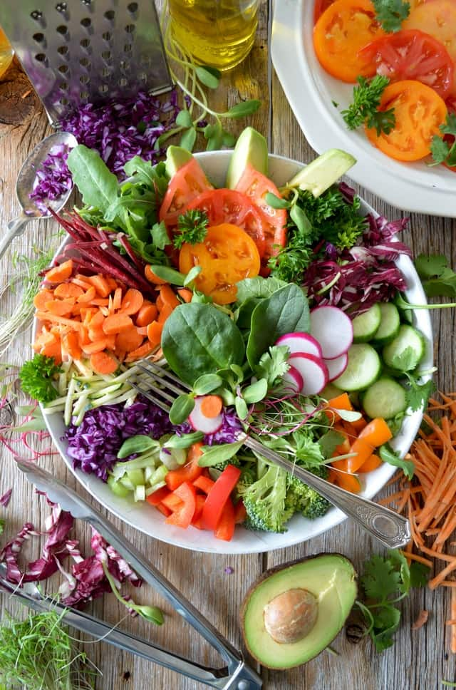 Enjoy healthy fruit and vegetables daily in your meals to combat inflammation.