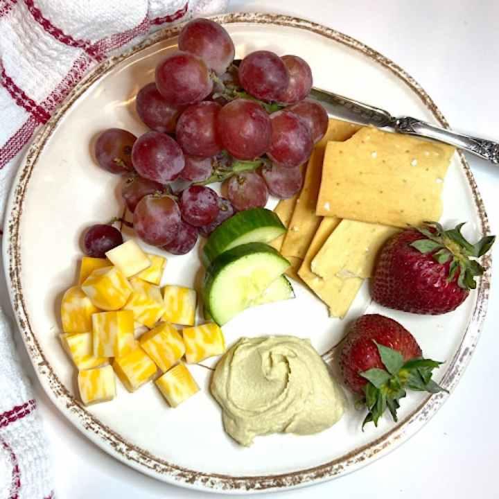 healthy Mediterranean breakfast plate
