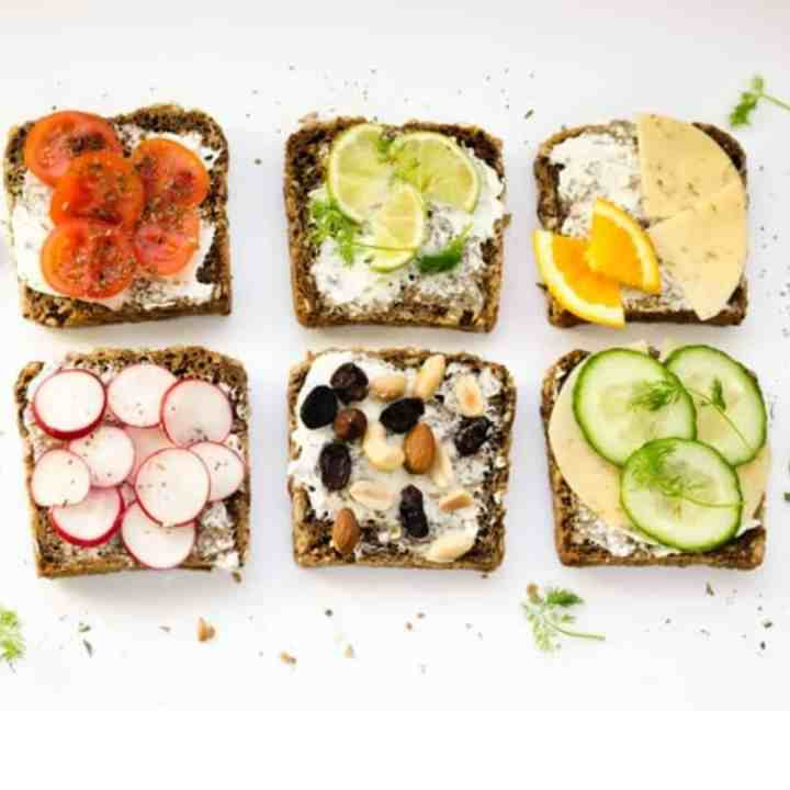 plant based foods on toast for healthy eating tips