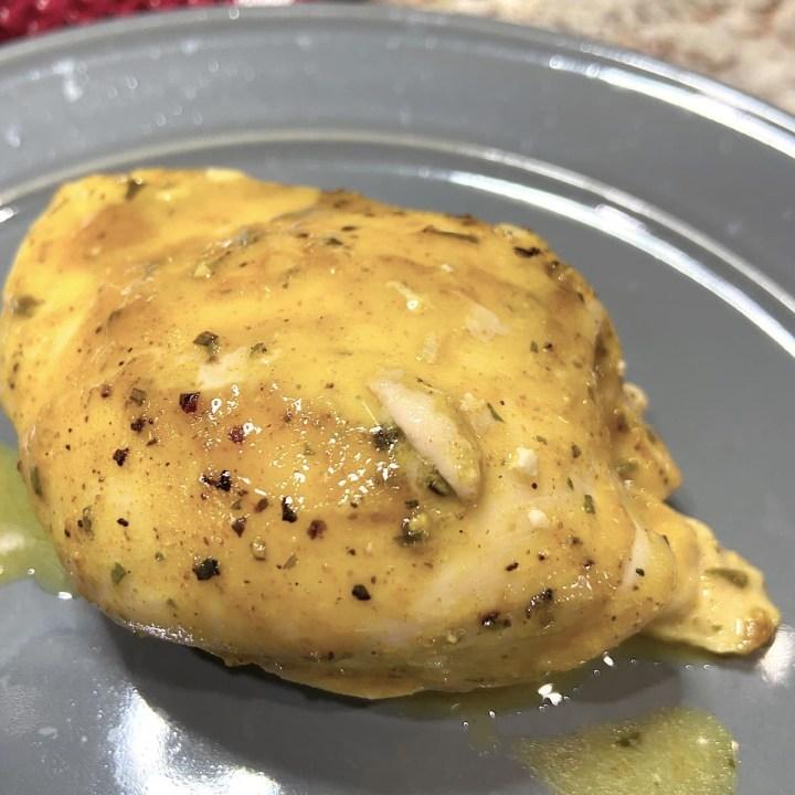 honey mustard chicken on plate