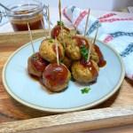 mediterranean meatballs as appetizer on plate