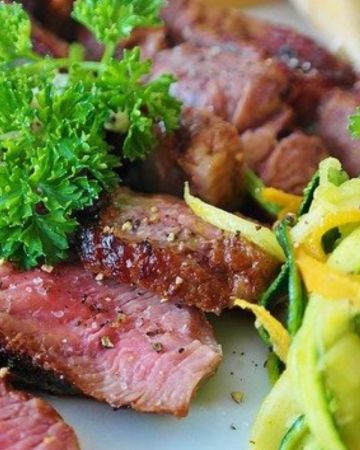 healthy flavorful food include steak and low carbohydrate vegetables is how to start the keto diet