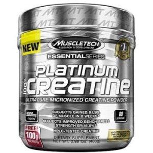 MuscleTech Platinum 100% Creatine, Unflavoured 0.88 lb-0