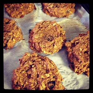 Apple,Carrot & Oatmeal Cranberry Breakfast Cookie