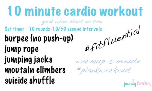best 10 minute cardio workouts at home for fat burning