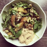 Salade de patates et lentilles