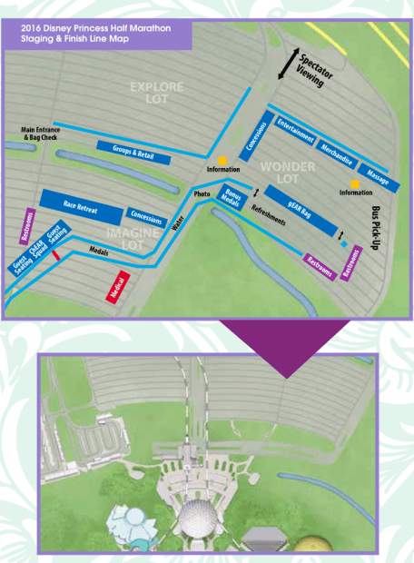 Map of Bus Drop off area