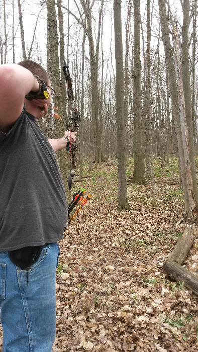 Chris taking aim