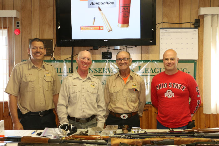 Volunteer Hunter Education Instructors: Lon Burton, Tom Seamans, Vaughn Thomas, Jason Lawrence