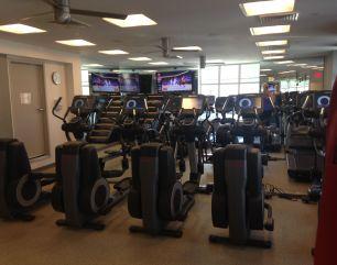 Third floor cardio equipment area.