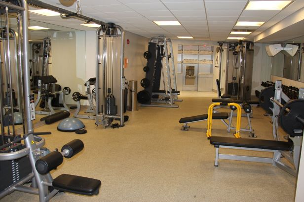 Downstairs weights & personal training space.