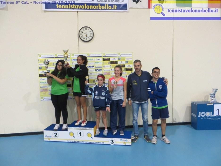 Il podio dei quinta femminili