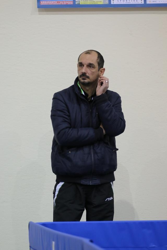 Il tecnico Cristian Mateiu (Foto Gianluca Piu)