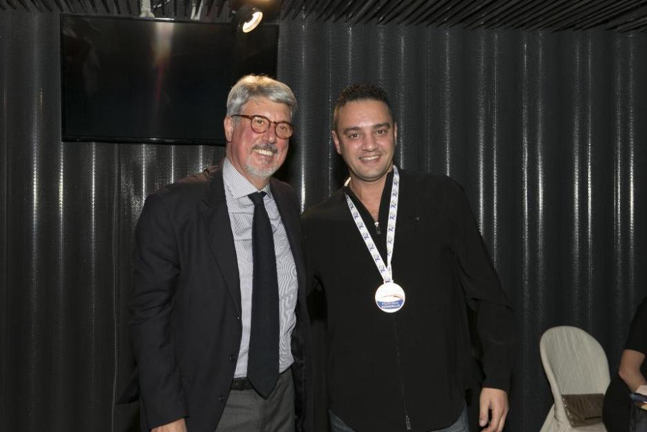a dx Massimiliano Mondello con l'ex presidente Fitet Stefano Bosi (Foto Domenico Vallorini)