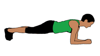 back exercise low plank