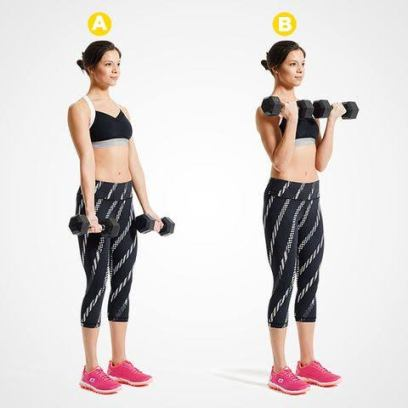 dumbbell workout at home