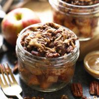 Instant Pot Apple Crisp in einem Einmachglas