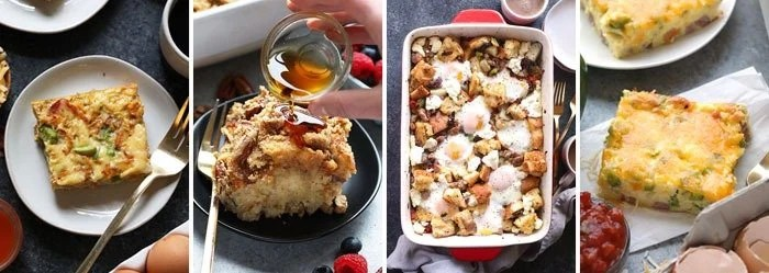 Healthy breakfast casseroles