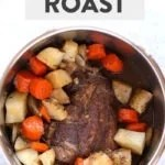 Instant pot pork roast with text overlay