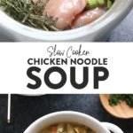 Chicien Noodle Soup Slow Cooker