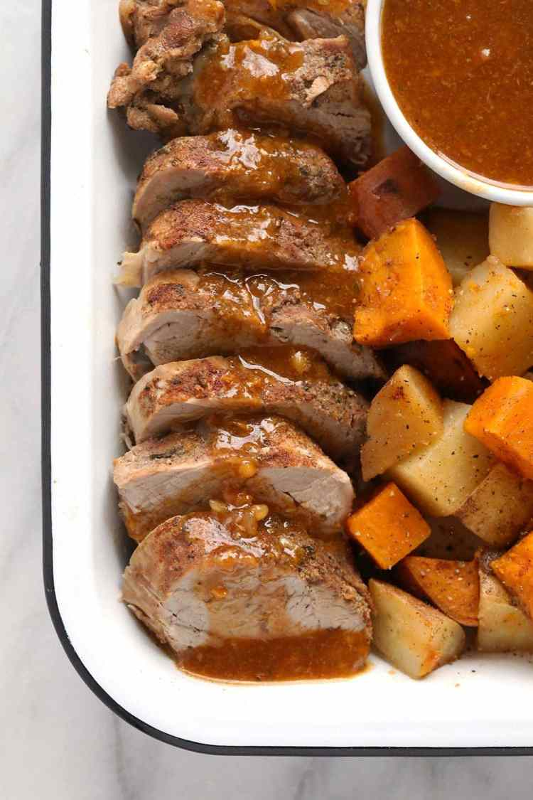 Instant Pot Pork Roast and potatoes