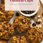 Pumpkin and oatmeal cups on a plate.