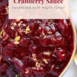 unique cranberry sauce recipe in bowl