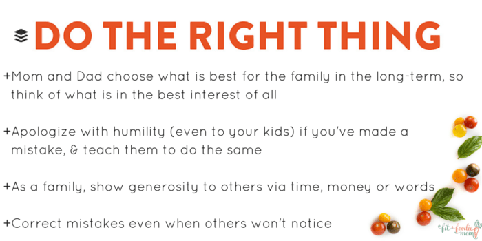 do the right thing buffer values families