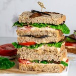 THE BEST EVER VEGAN BLT SANDWICH WITH EGGPLANT BACON