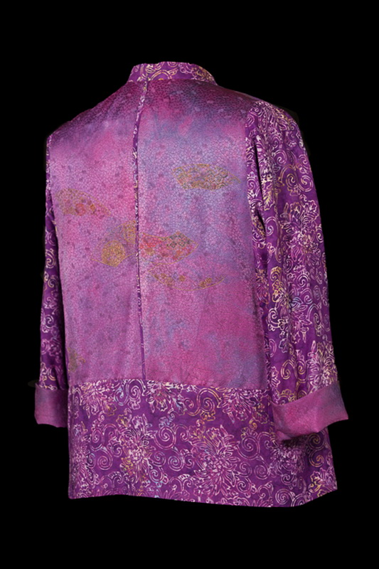 Purple Silk & Rayon Jacket (back)