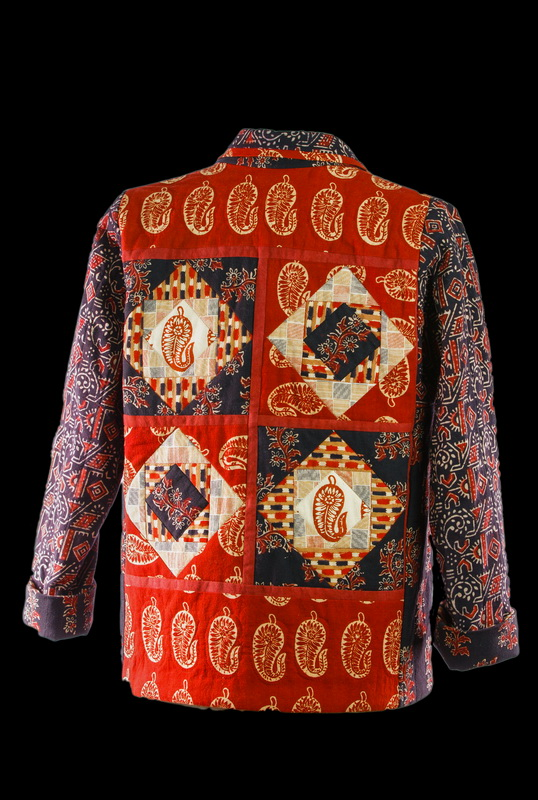 Handloom Batik Quilted Jacket (back)