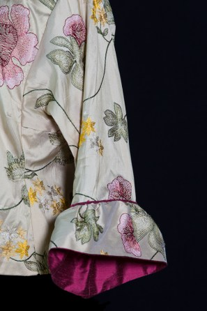 Embroidered Silk - sleeve detail