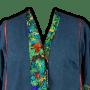 My denim jacket with Tie Embellishments.