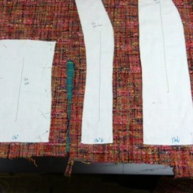 Placing the Center Front and Side Front using the already cut side piece.