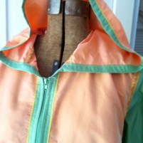 Zip front raincoat with hood!