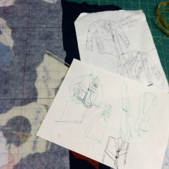 Sketches in the fabric pile.