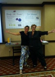 photo ASDB banner with Edye and Monica