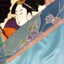 The stitched batik strip.