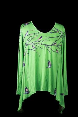 Green silk jersey Tabula Rasa Knit Tunic