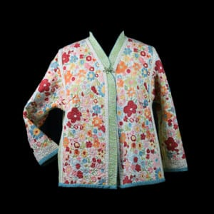 Printed side of the Flower Garden Jacket