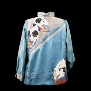 Back of Blue Geishas Jacket