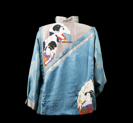 Back of Blue Geishas Jacket